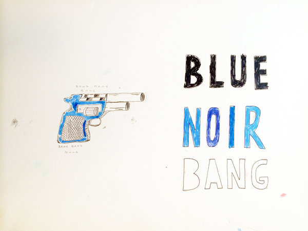 Beyond the Vanishing Point - Paintings and Drawings 2015- 2016 - blue_noir_bang
