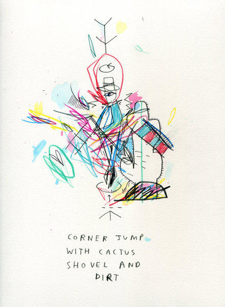 Beyond the Vanishing Point - Belghazi- the Drawing series - CORNER_JUMP_CACTUS